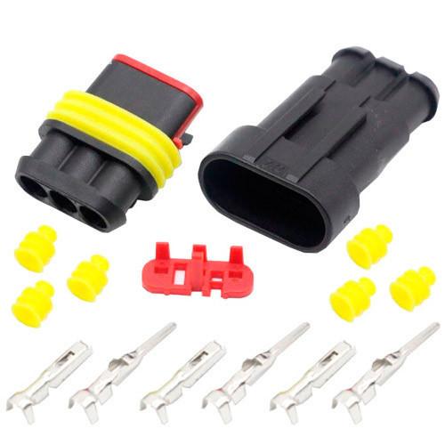 Трехконтактный  автомобильный электрический герметичный DJ7031-1.5 Excellway комплект