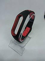 Перфорированный ремешок Sport браслет на Mi Band 2/ми бенд 2 черно-красный, фото 1