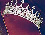 Корона півколом з класичними чи синіми кристалами на вибір, фото 5