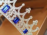 Корона півколом з класичними чи синіми кристалами на вибір, фото 4