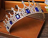 Корона півколом з класичними чи синіми кристалами на вибір, фото 6