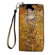 Кошелек стильный женский принт на молнии и ручкой размер 18,5 х 10 см