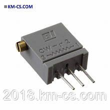 Резистор подстроечный (Trimmer) 67XR100 (TT Electronics)