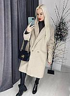 Стильная удлиненная шуба-пальто имитация барашка (4 цвета)