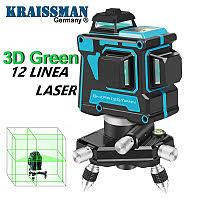 Лазерный уровень KRAISSMANN 12.3D-LL 25 (зелёный луч)