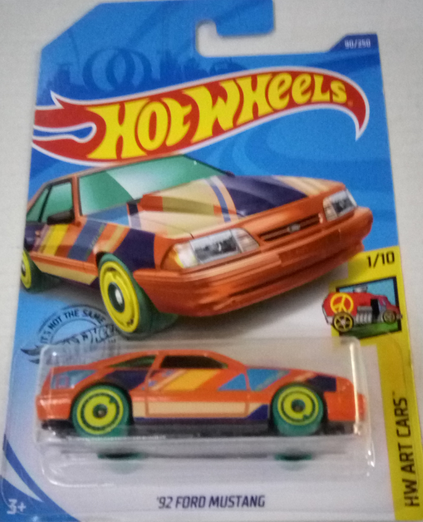 Машинка Hot Wheels 2020 '92 Ford Mustang