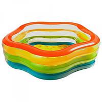 Бассейн надувной для детей  большой Intex 185х180 см