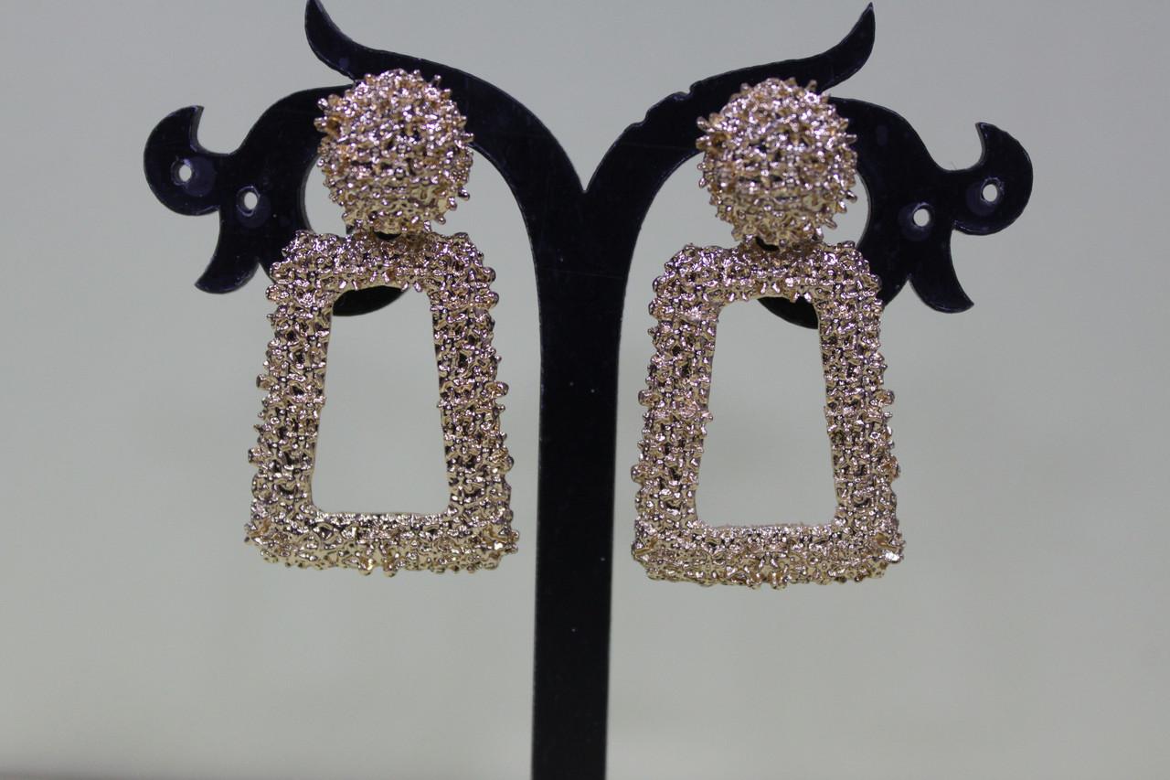 Красивые сережки для повседневной носки золото