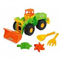 Іграшковий екскаватор Тигрес з набором для піску, 5 елементів