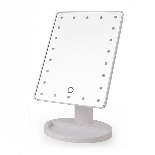 Зеркало с подсветкой для макияжа - Large Led Mirror Белый