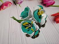 """Декоративные цветы """"Дивный цветок"""" еловый+белый"""