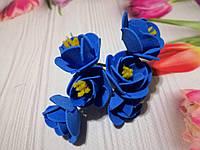 """Декоративные цветы """"Дивный цветок"""" синий"""