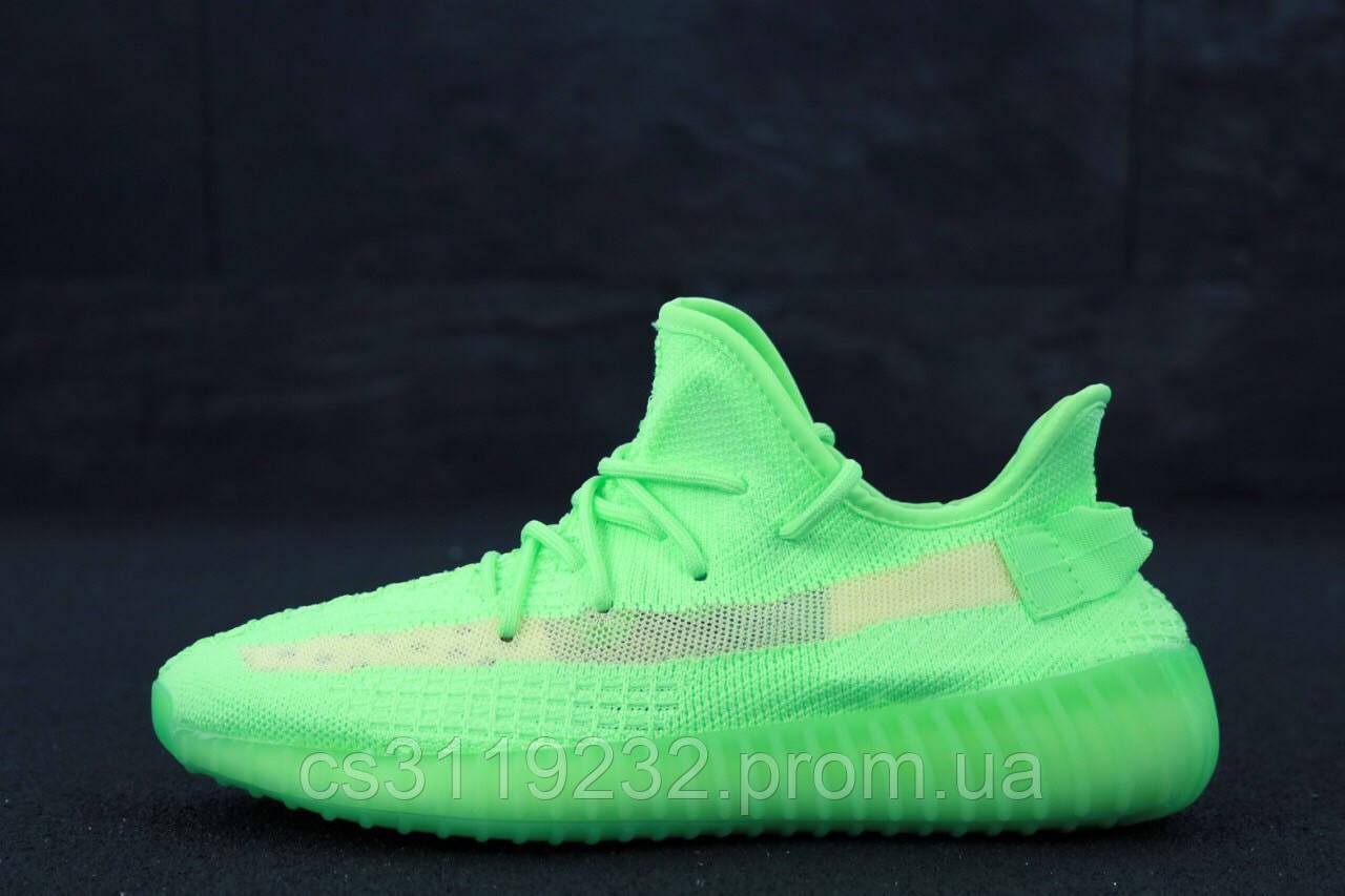 Женские кроссовки Adidas Yeezy v2 350 Glow Green (зелёный)