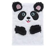 Пушистый блокнот Панда белый, А5