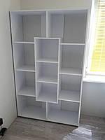 Шкаф книжный белый 110х35х174 см, фото 1
