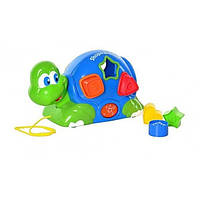 Сортёр каталка Черепаха Keenway для самых маленьких с музыкой и светом