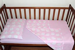 Постільний комплект ручної роботи в дитячу ліжечко Рожевий