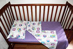 Постільний комплект ручної роботи в дитяче ліжечко