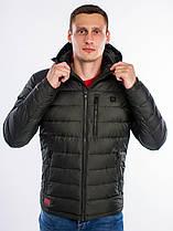 Зимняя куртка с подогревом от USB powerbank. Хит сезона 2019 / 2020! Темно зеленая, все размеры, качество ТОП!