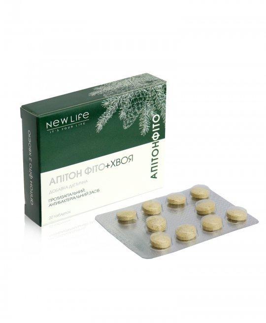 Апитон фито с хвоей сильное противовоспалительное средство 20 таблеток Новая жизнь
