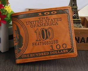 Кошелек мужской портмоне 100$ Доллар
