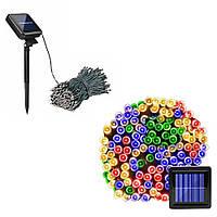 Садовый фонарь гирлянда 22м 200LED на солнечной батарее, цветной