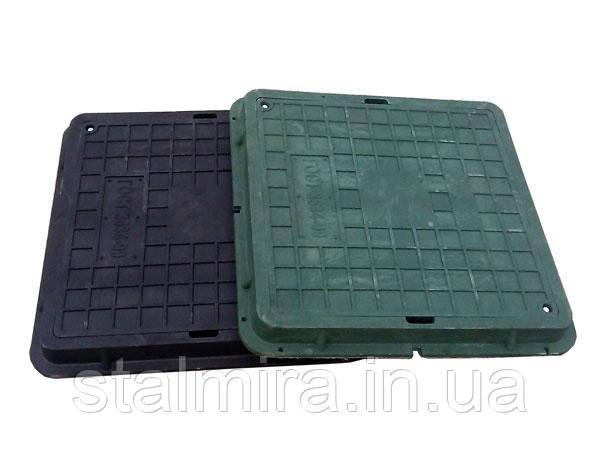 Люк пластиковый квадратный, зеленый