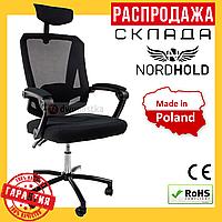 Офисное Компьютерное Эргономичное Кресло NORDHOLD 8606 Черное (Польша)