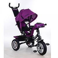 Велосипед детский трёхколесный Turbo Trike с родительской ручкой Фиолетовый