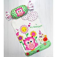 Комплект постільної білизни для немовлят у ліжечко і коляску BeniLo Совушка