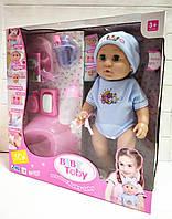 Кукла-пупс говорящая 30801-6, интерактивная, голубой костюмчик, фото 1