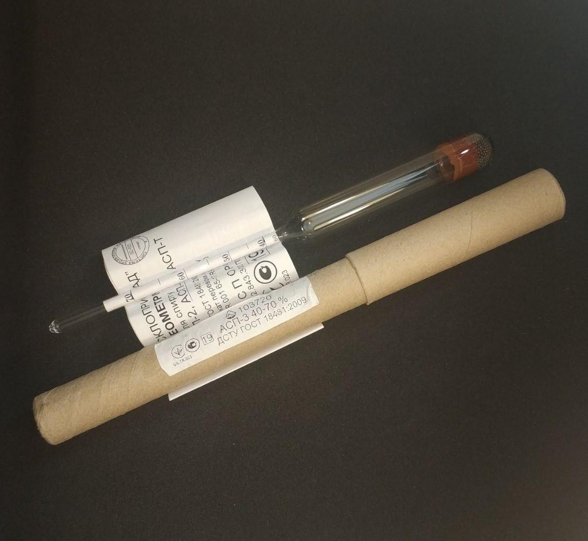 Ареометр для спирта АСП-3 40-70
