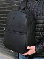 Рюкзак городской Puma Ferrari кожаный Черный