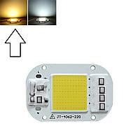 Светодиодная матрица с драйвером COB LED 50Вт 4500лм 220В, тепл. белая