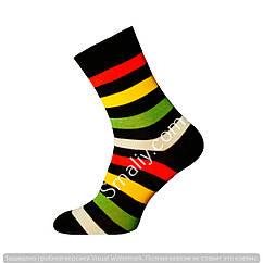 Чоловічі демісезонні щільні шкарпетки в смужку