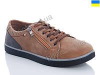 """Кроссовки демисезонные мужские """"Dual"""" #8801-6. р-р 40-45. Цвет коричневый. Оптом"""