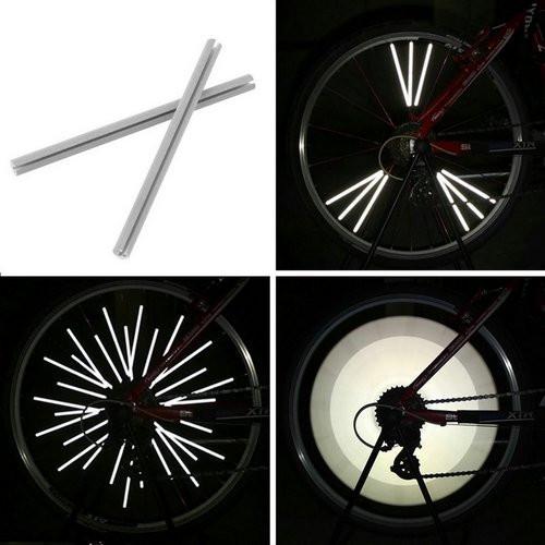 Светоотражающие рефлекторы на спицы велосипеда, 12 шт
