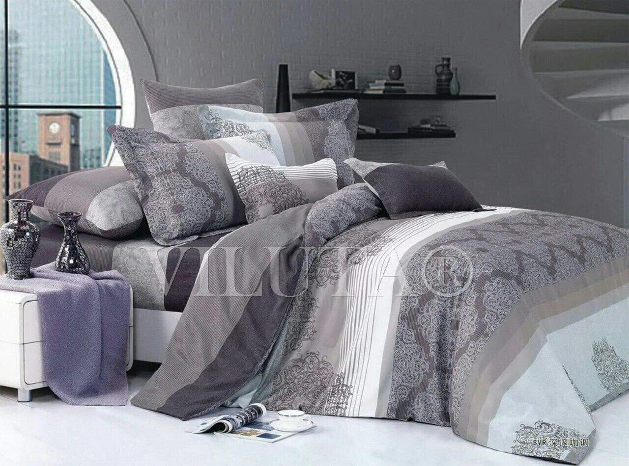 Бязевый семейный комплект постельного белья приятного качества.