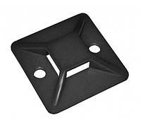 Площадка ПП самоклеющаяся цвет - черный размер 25mm x 25mm (упаковка 100 шт.) Electro