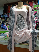 Женский комплект Халат с рубашкой р.48 -  54
