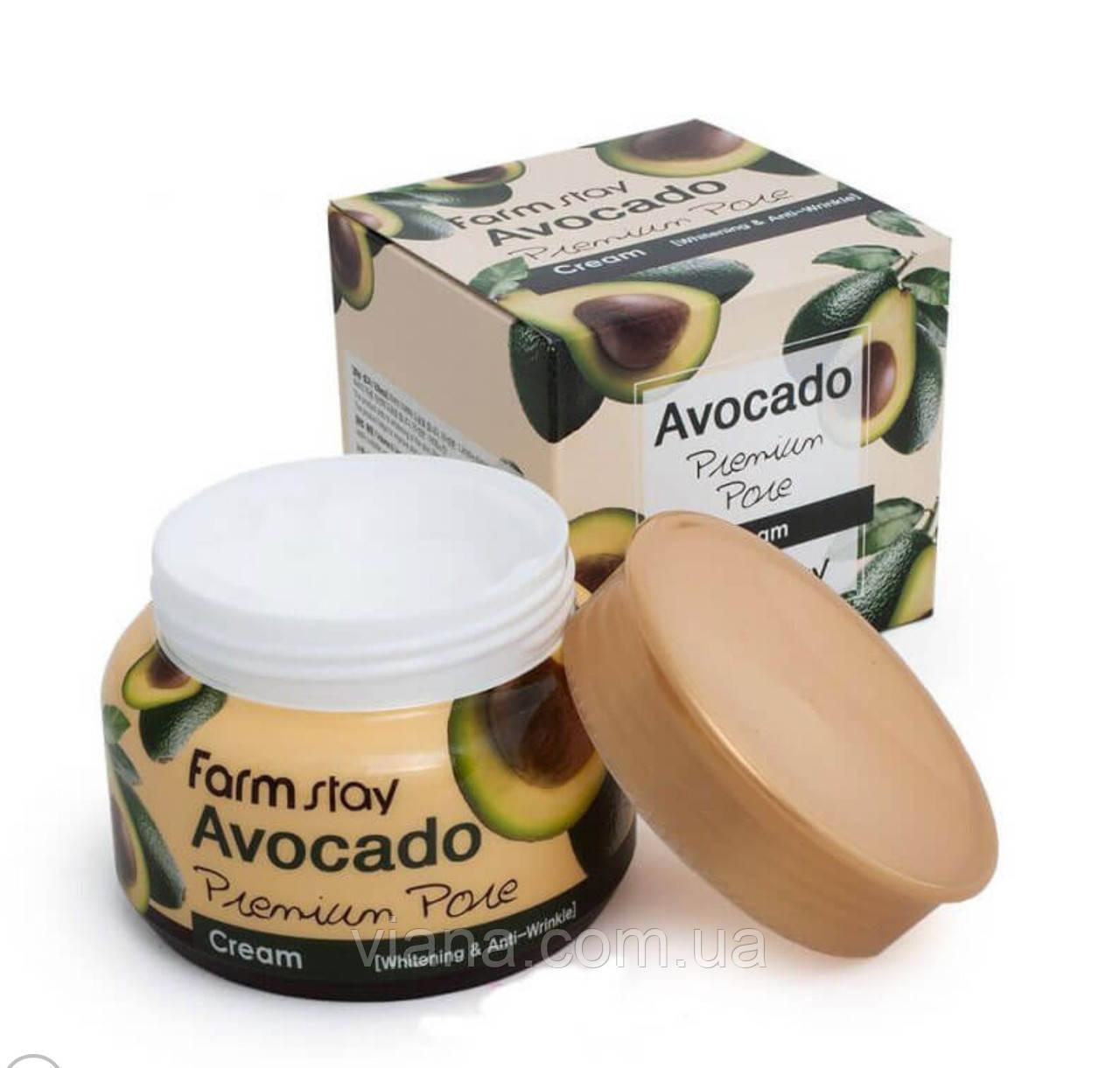 Осветляющий лифтинг-крем для лица с экстрактом авокадо FarmStay Avocado Premium Pore Cream 100 мл