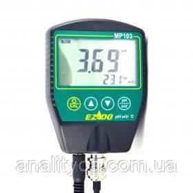 РН-метр для твёрдых сырных продуктов EZODO MP-103S с выносным электродом GS44 и термодатчиком