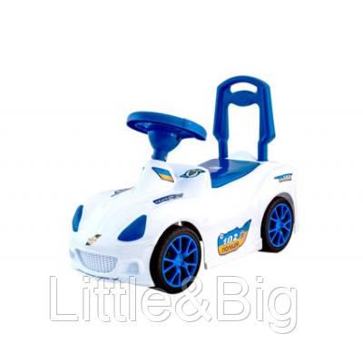 Каталка-толокар Спорт кар Белая (160)