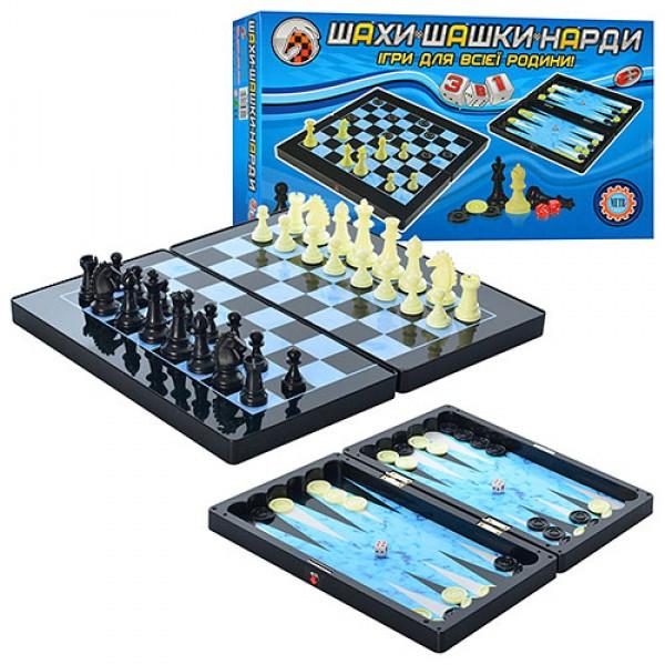 Игра 3 в 1 шахматы, шашки, нарды Metr+