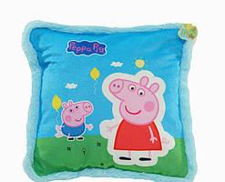 Подушка для детей BeniLo Свинка Пеппа  Голубая