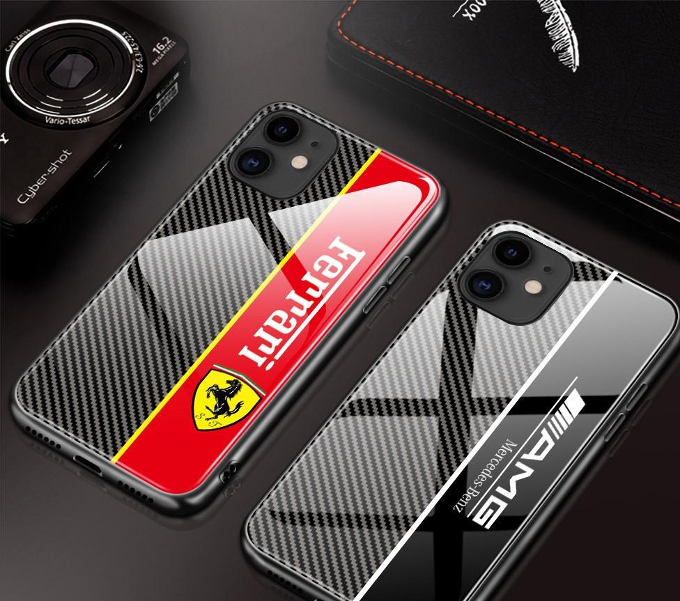Карбоновый чехол (накладка) для Apple iPhone (айфон) 11 из углеродного волокна