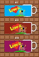 """Друк на чашках """"LOVE IS... №1"""""""