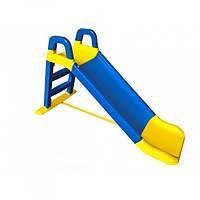 Дитяча гірка для дачі та дому 140 см Долони Синя