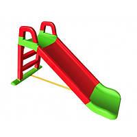 Дитяча гірка для дачі та дому 140 см Долони Червона
