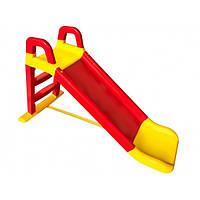 Детская горка для дачи и дома 140 см Долони Красная